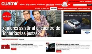 Cuatro.com: Página web oficial de Cuatro