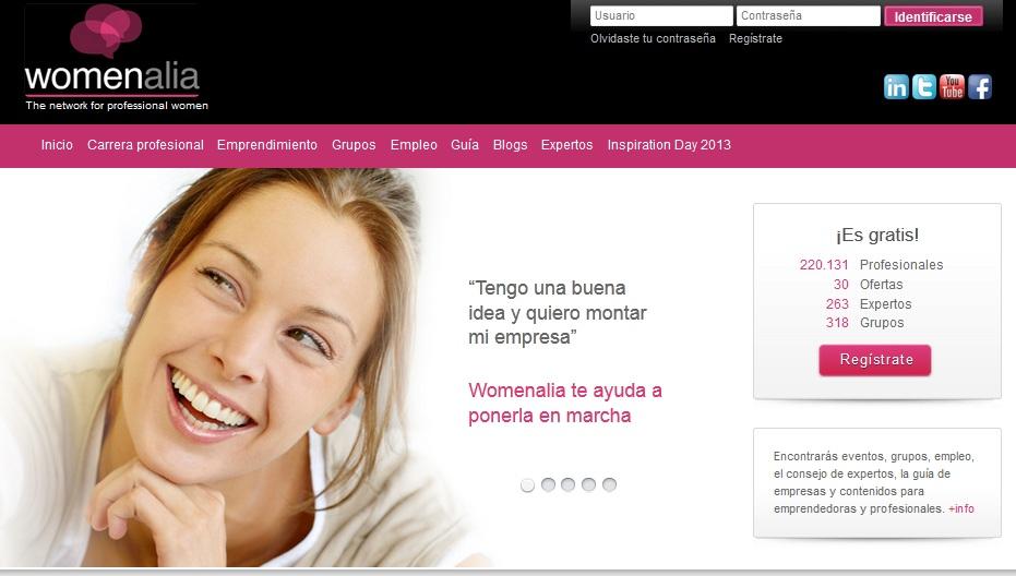 Womenalia.com: Red social para mujeres trabajadoras