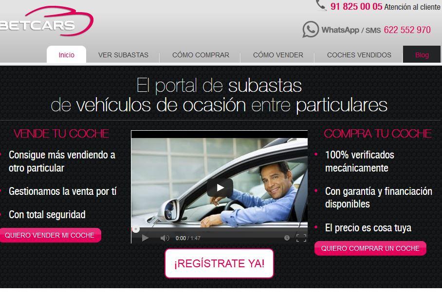Betcars.com: Comprar y vender coches en subastas