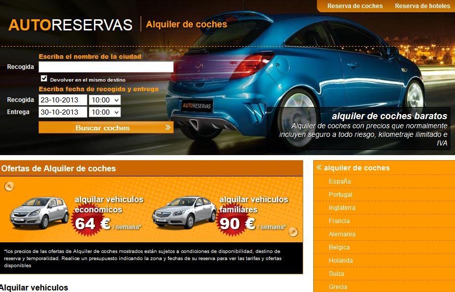 Autoreservas.com: Reserva coches por internet