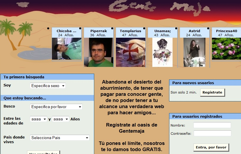 Gentemaja.com: Encontrar gente para quedadas y salidas