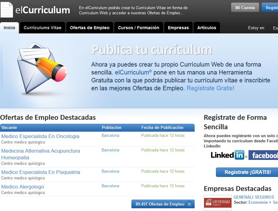 Elcurriculum.com: Sube tu currículum online para encontrar trabajo