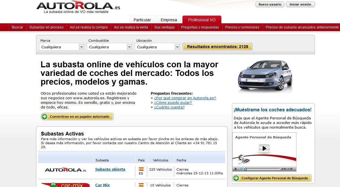 Autorola.es: Subasta de vehículos online