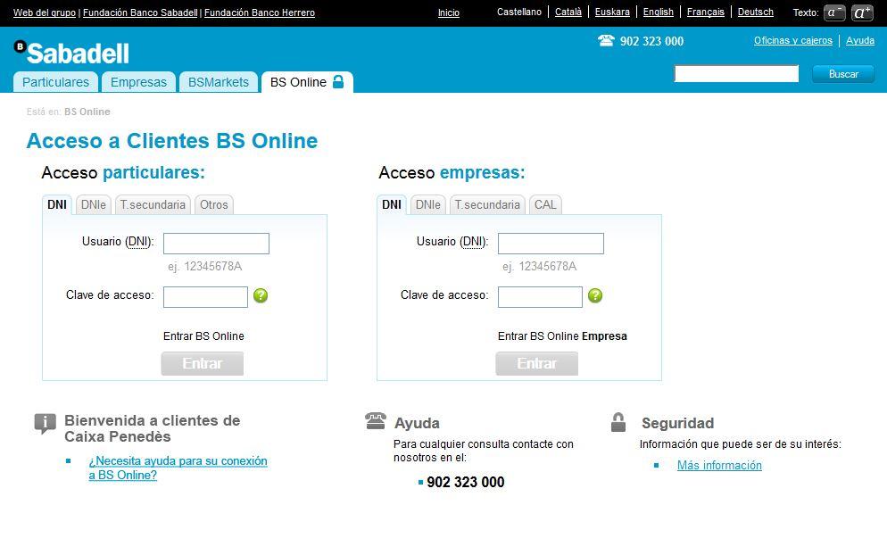Banco Sabadell online