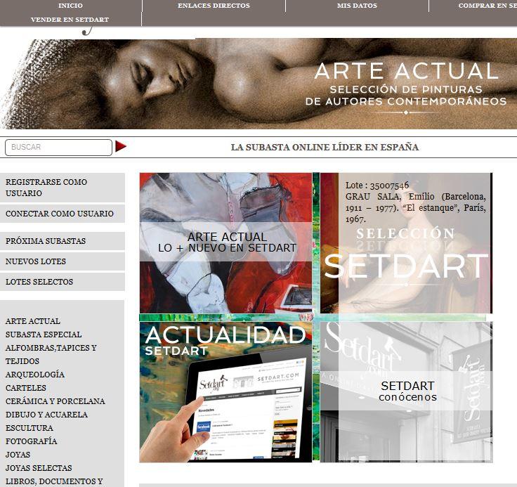 Setdart.com: Subastas de arte online