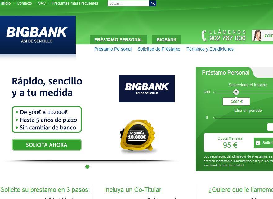 Bigbank.es: Conseguir préstamos online