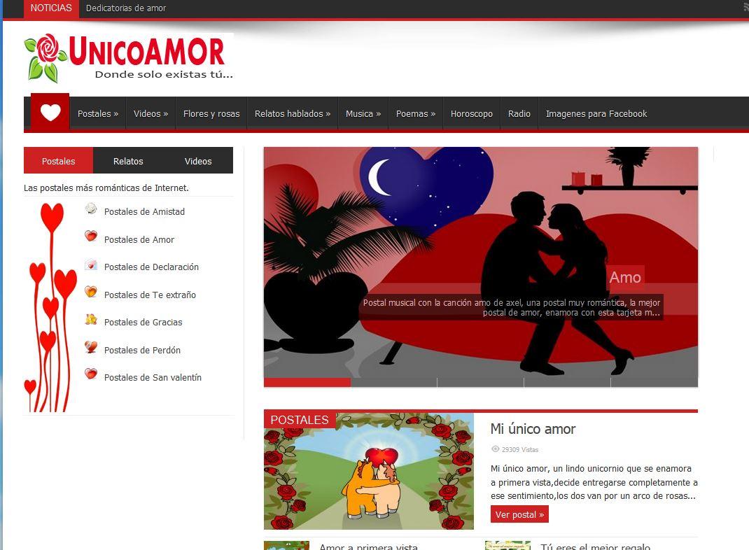 Unicoamor.com: Imágenes, relatos y postales de amor gratis