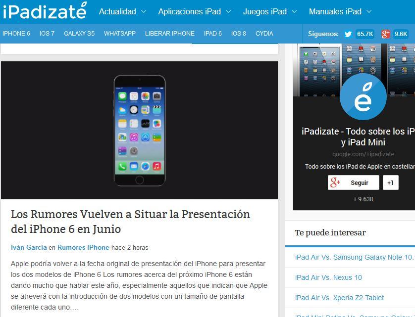 Ipadizate.es: la mejor información sobre el iPad de Apple