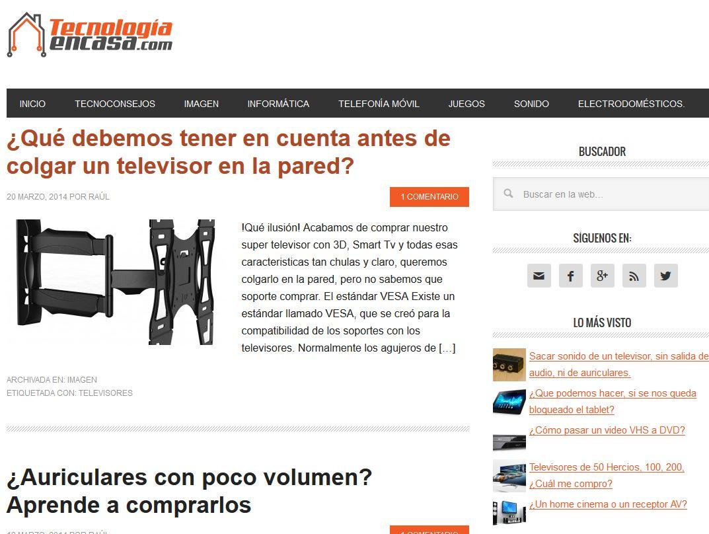 Tecnologiaencasa.com: La mejor información sobre tecnología doméstica