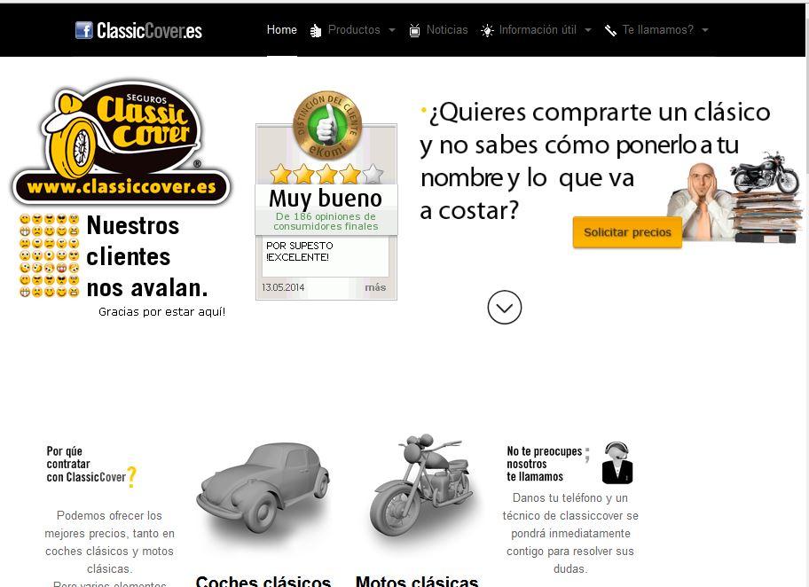 Classiccover.es: Seguros clásicos para coches y motos