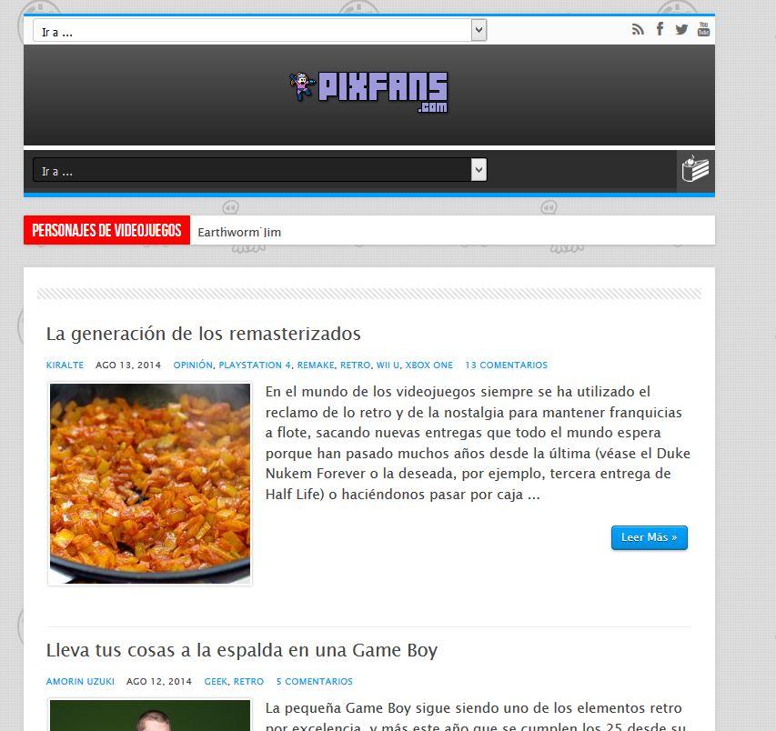 Pixfans.com: El blog ideal para los amantes de los videojuegos