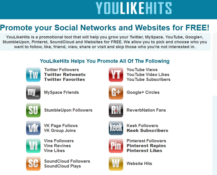 YouLikeHits: Gana visitas y suscriptores en YouTube gratis
