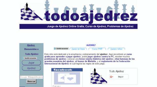 Todo Ajedrez, una página para los amantes del tablero