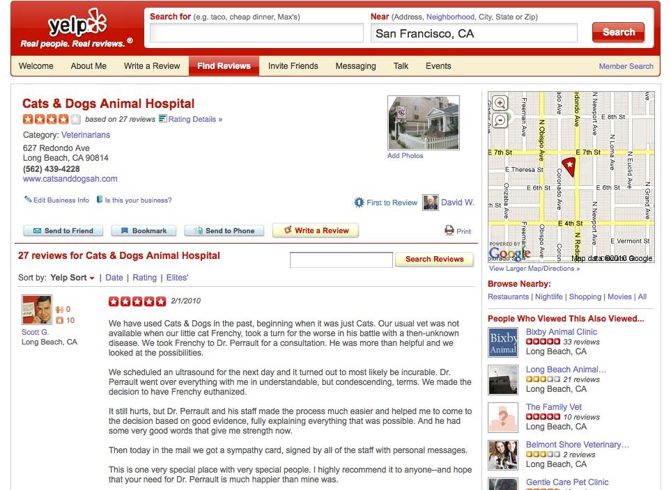 Yelp, el mejor buscador de negocios locales de todo Internet
