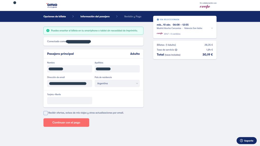 Omio, una plataforma para encontrar todos los billetes que necesitamos