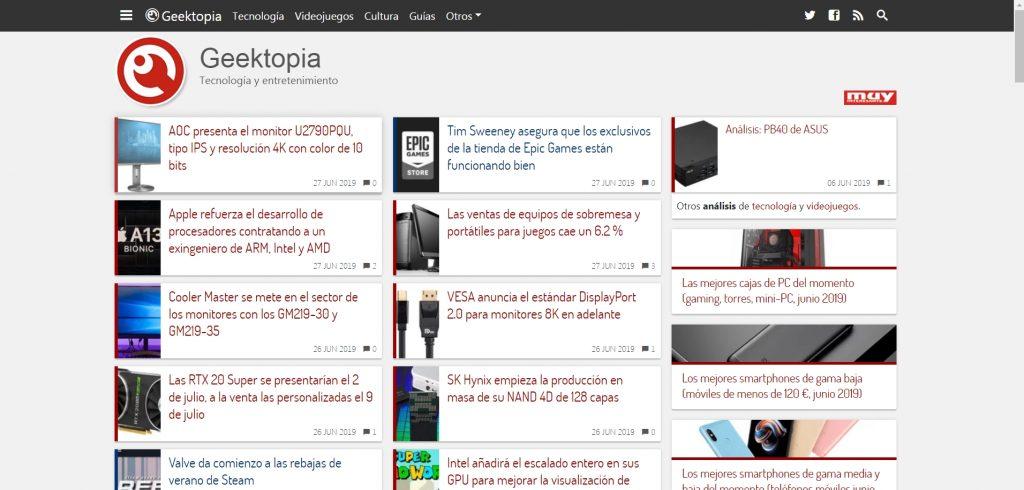 Geektopia, las mejores comparativas y toda la actualidad tecnológica en una misma web