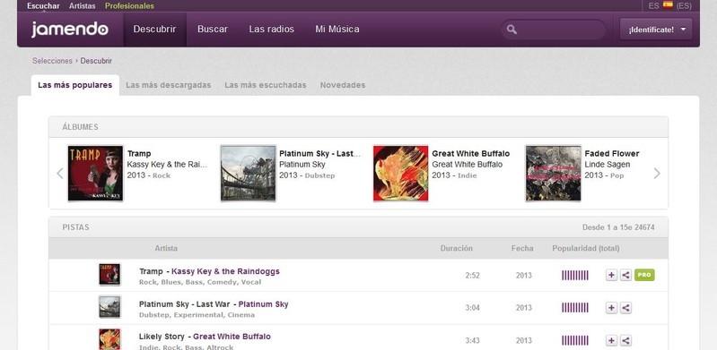 Jamendo, una plataforma con millones de canciones libres de derechos para nuestros proyectos